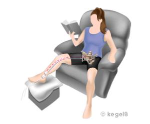 estimulación tibial posterior con electrodos autoadhesivos